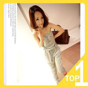 Hot sale!Wholesale Good Quality Fashion New Slim Rompers women's Pants Strapless in the spring and summer (12.23)