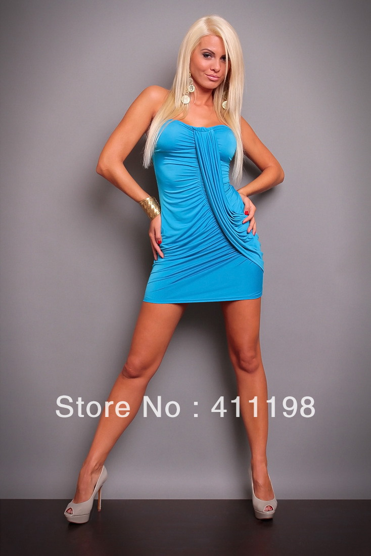 Hot sell Free shipping Sexy lingerie jumpsuit lady strapless women dress LY5904 white, black, pink, blue, DK blue, red 6 colors