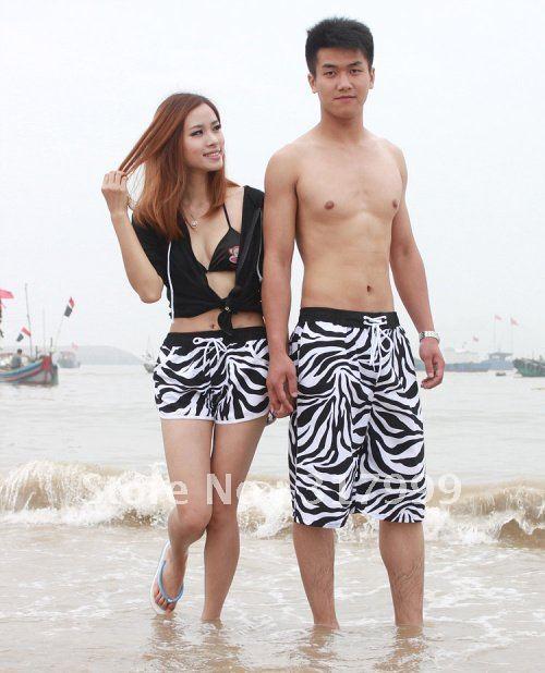 HOT SELL !!Sexy Couple beach pants Short beach wear B002
