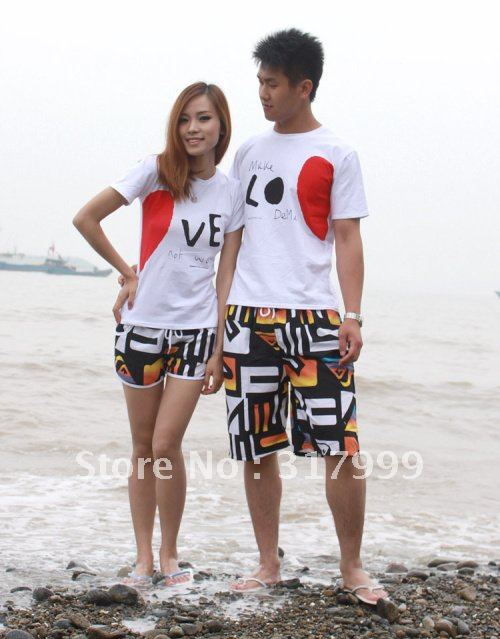 HOT SELL !!Sexy Couple beach pants Short beach wear Set B021