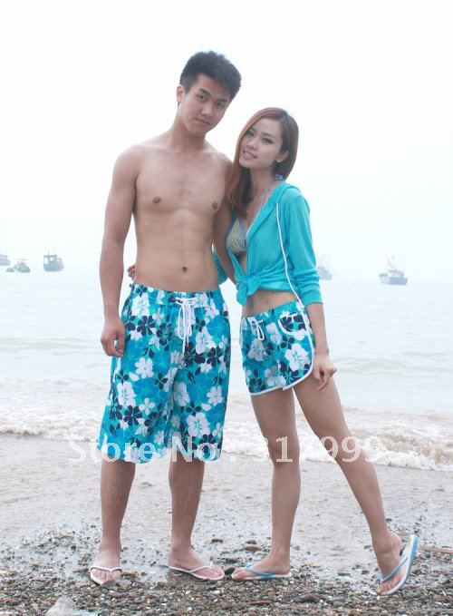 HOT SELL !!Sexy Couple beach pants Short beach wear Set B024