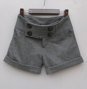 Hot-selling autumn and winter roll-up hem wool shorts boot cut jeans woolen boot cut jeans