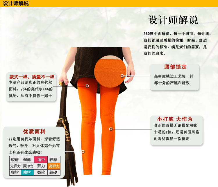 Hot-selling hm candy color modal legging