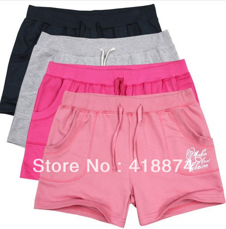Hot Selling Summer Sport Women's Shorts Female sports Trousers Soft Cotton Relaxed Pants Petite Activewear K80 Free Shipping