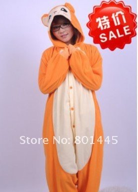 HOT Spring Autumn adult romper nonopnd one piece sleepers polar fleece for 145~185cm growth free shipping