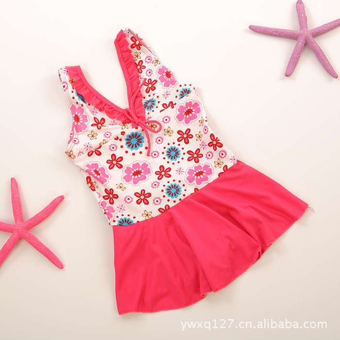 Hot spring child swimwear swimming trunks one piece child swimwear girl swimwear female child swimwear