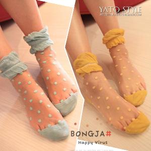 hot thin stockings  falbala dot socks lace decoration sock pile of pile socks A091