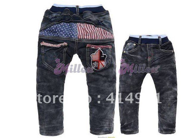 HS69220, 2012 winter new children pants / high quality thickening / baby boys and girls jeans trousers /Free shipping