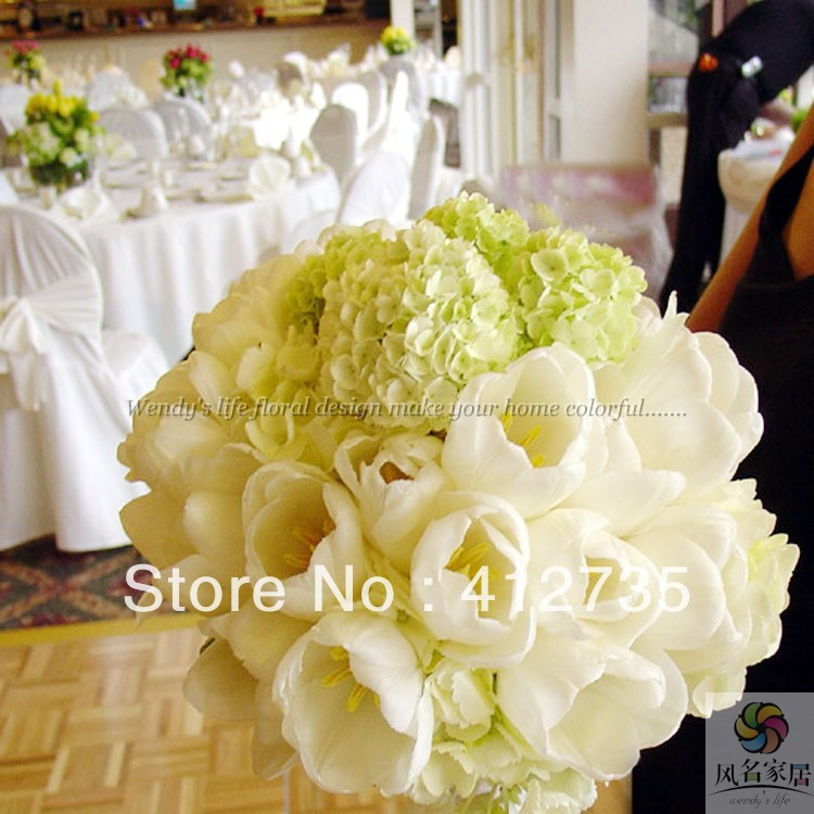 Hydrangea Tulip Bouquet/wedding throw bouquet/photography props