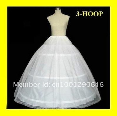In stock 2013 3Hoops 1T Wedding Accessories Petticoat Adjustable Waist for Ball gown Wedding Dresses