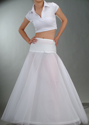 In Stock discount Elastic Waist 65cm-85cm Bridal Wedding Accessory White Petticoat Matching A Line Style Skirt