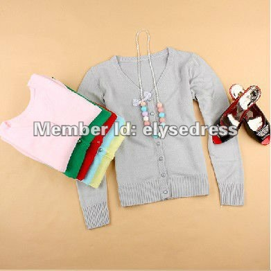 In Stock Free Shipping Hollow thin section long-sleeved knit cardigan Autumn 2012 New