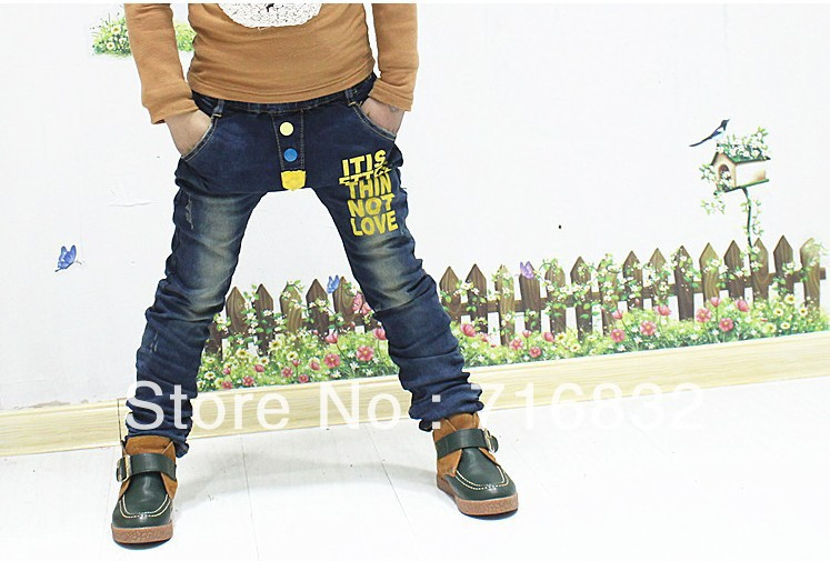 In the spring and autumn period and the new 2013 han panty 7165/3-9/3 - eight children fashionable jeans trousers