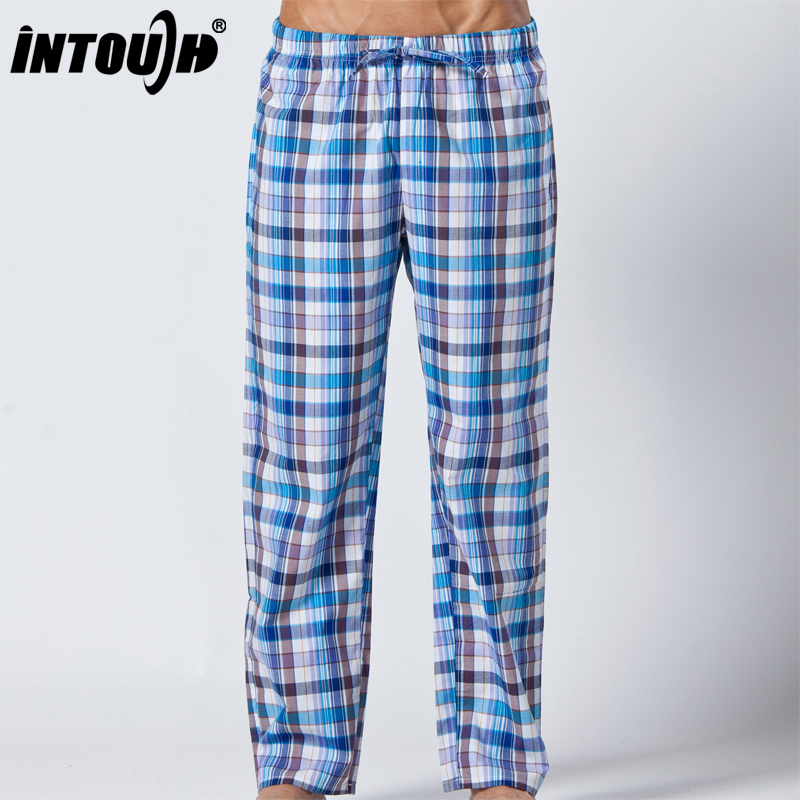 Intouch 100% cotton male casual trousers home casual pants summer long pajama pants 619 d53