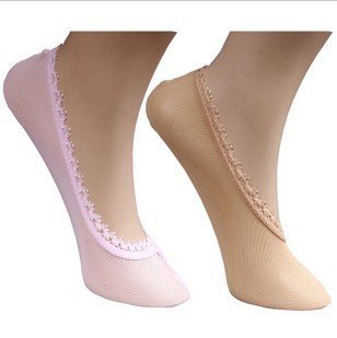 Invisible  Lace decoration   ultra-thin mesh women's socks,Free shipping