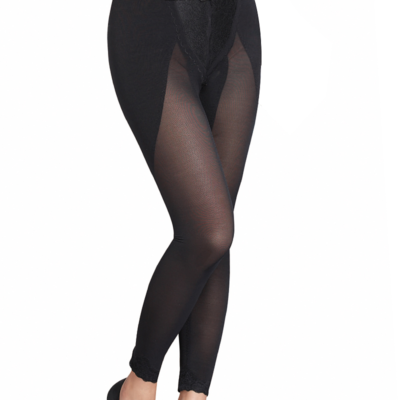 Isn't butt-lifting slim waist breathable long plastic pants ankle length trousers