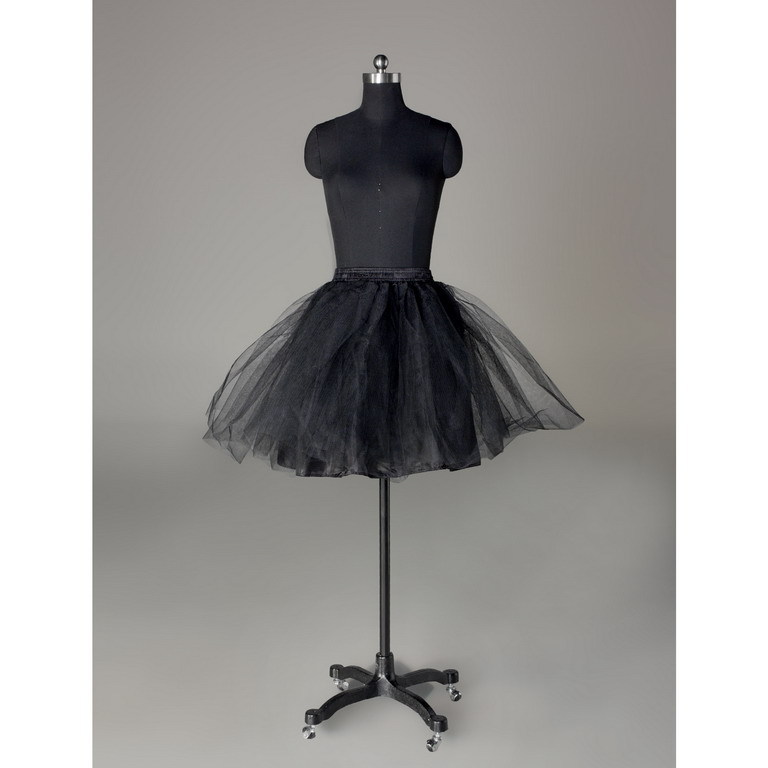 Jade black short wedding panniers skirt little ballet slip boneless skirt stretcher 9023