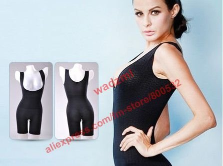 Japan style sexy black tank germanium slimming camisole beauty breast super body shaper jumpsuits  opp bag package 25pcs/lot
