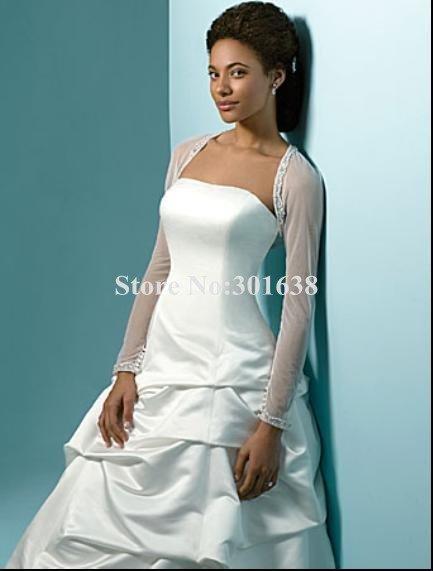 jk-014  2012 new arrival hotsale long sleeves Bridal Wraps/jackets