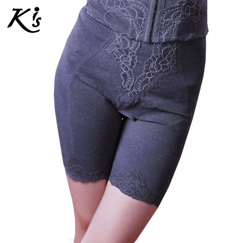 Kis female body shaping pants beauty care pants grey bamboo charcoal fiber jacquard pants k7028