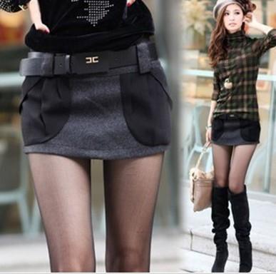 Korea Version Big Pockets Shorts Fashion Women Hot Pants Dark-Gray S to XL Boots Pant Shitsuke Low-Waist Spring/Autumn Worsted