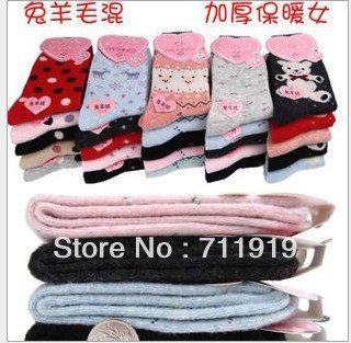 Korean style Ladies' multicolor socks Rabbit wool socks#7071