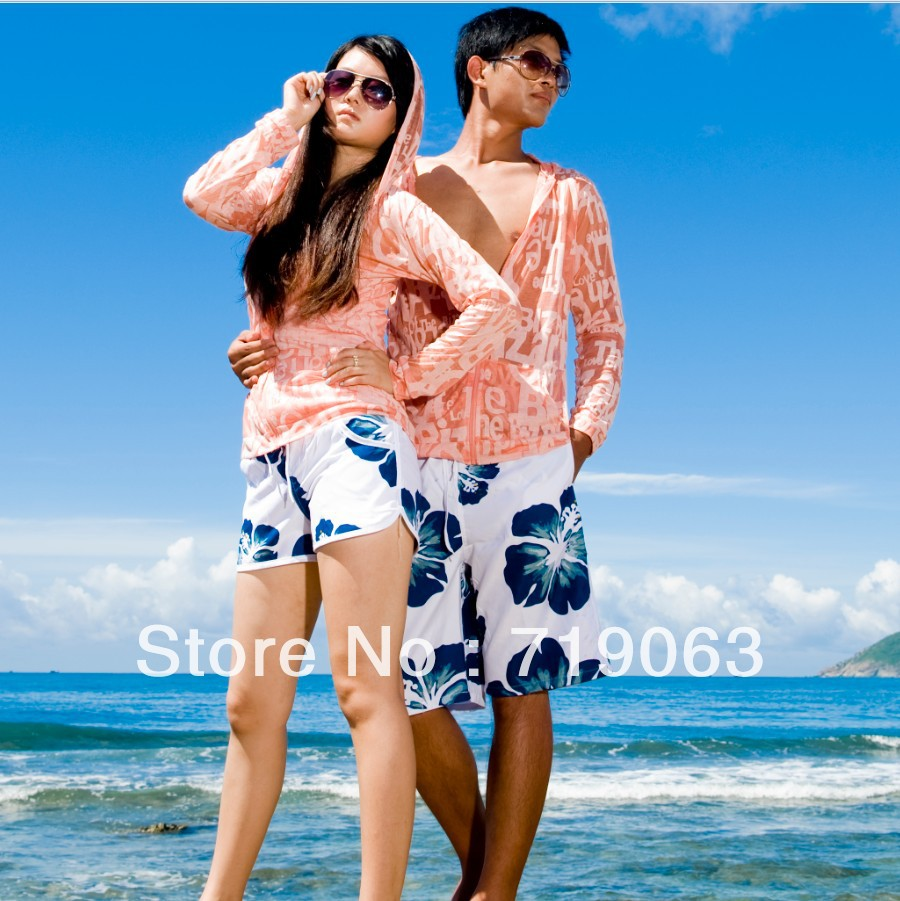 Ku-house beach pants shorts male female sports lovers beach pants summer quick-drying