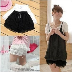 Lace Cake divided skirt with Ribbon bow Free Shipping 3038
