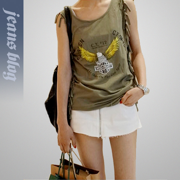 Ladies Fashion Denim Skirt Jeans Solid Pocket  Low  Waist  Pants  Free Shipping 9498