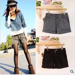 Ladies fashion short wool shorts boots pants Leggings Free Shipping