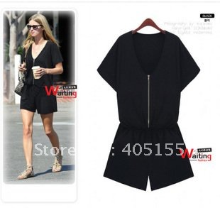 Ladies Sexy loose large yards jumpsuit women's jumpsuit overall romper Culottes free shipping fashion new 2012