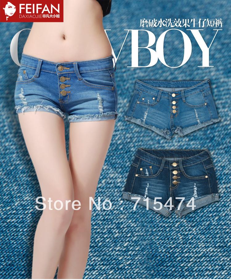 Lady denim shorts,2013 women's sexy jeans shorts,hot sale ladies' denim short pants size:S M L,XL,free shipping