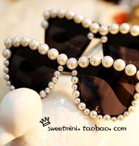 Latest Designer Hot Fashion Overstate Pearl Sunglasses Handmade Brand Design glasses for Women Ladies Sunglass #JS002