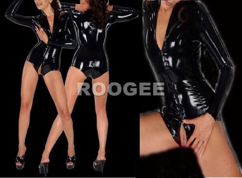 Latex straitjacket catsuits