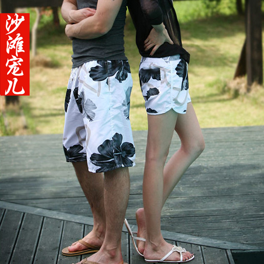 Letter flower lovers beach pants beach pants lovers pants summer shorts