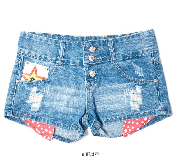 Light Blue 2013 Fashion Destroyed Low Waist Denim Shorts Washed Hot Clubwear Short Pants(XXS-XXL) Freeshipping