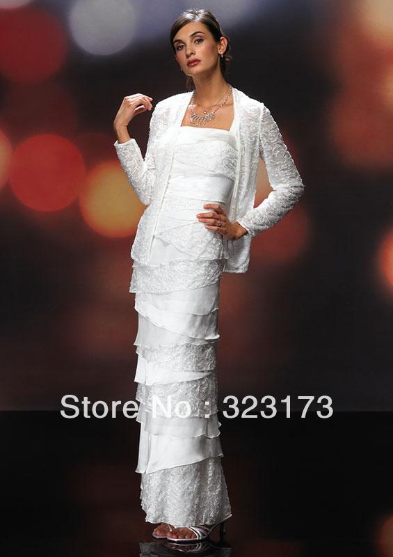 Long Sleeve Bridal Bolero White Lace Wedding Jacket