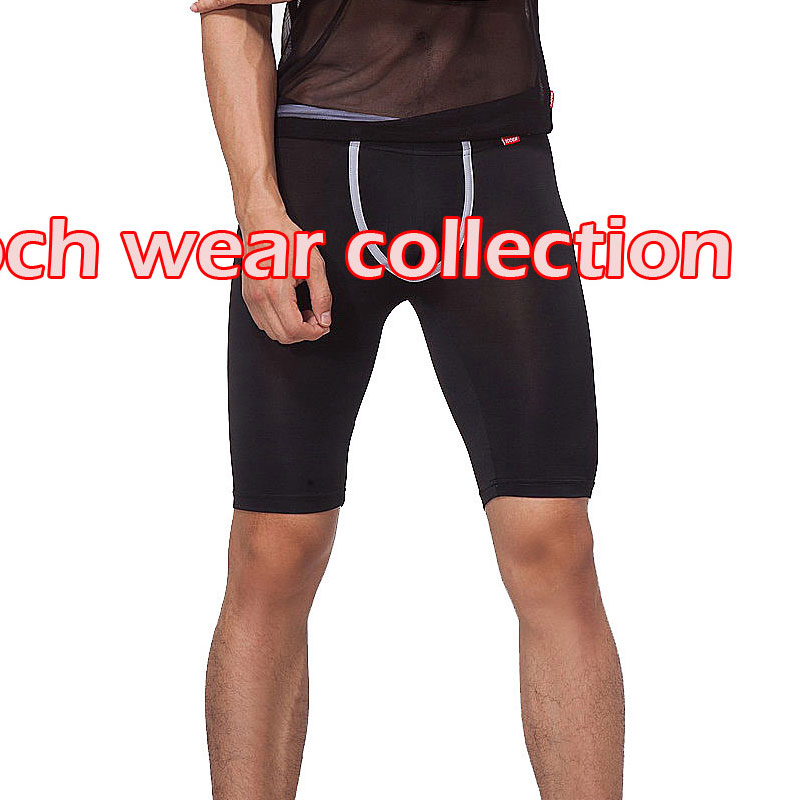 Looch low-waist male knee-length capris pants tight men's u bag basic shorts