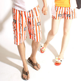 Lovers beach pants male female quick-drying pants shorts beach lovers beach