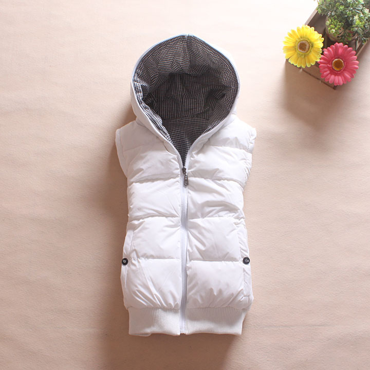 Lovers design reversible with a hood thickening women's cotton vest waistcoat autumn and winter plus size available M-XXL