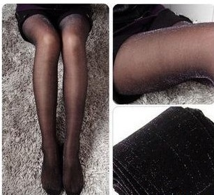 Lowest! Free shipping high quality  filamentary silver wrap core silk women's tights stockings pantyhose,consumer pack,wholesale