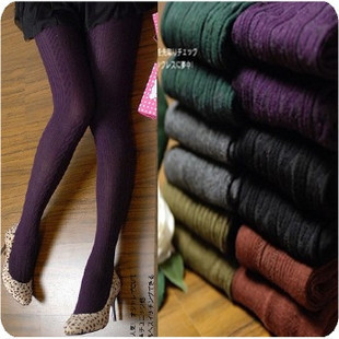 M005 thickening thread stovepipe pantyhose 100% cotton twisted socks autumn and winter
