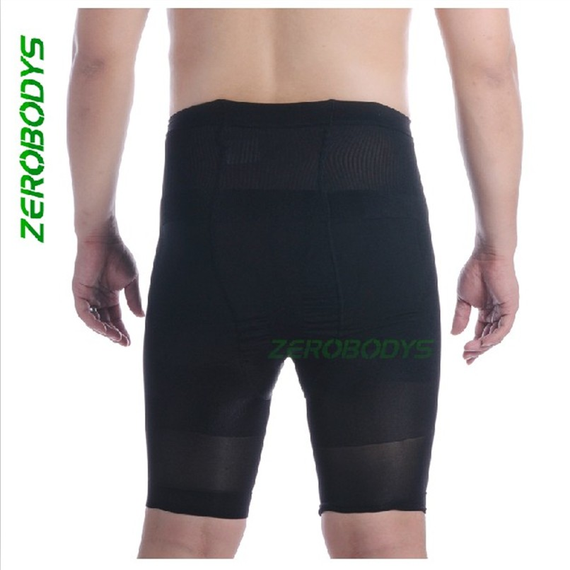 Male body shaping pants high waist abdomen pants drawing beauty care skin tight knee-length pants waist