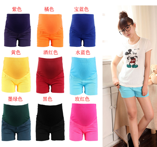 Maternity clothing 2012 cotton cloth shorts 9 cotton cloth maternity shorts k59