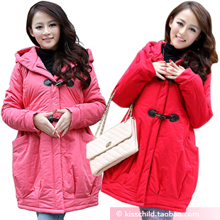 Maternity clothing autumn and winter outerwear fashion plus size thermal maternity wadded jacket thickening maternity
