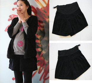 Maternity clothing autumn maternity shorts autumn and winter corduroy belly pants boot cut jeans maternity pants