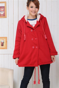 Maternity clothing maternity autumn and winter wadded jacket bear maternity cotton-padded jacket with a hood maternity outerwear