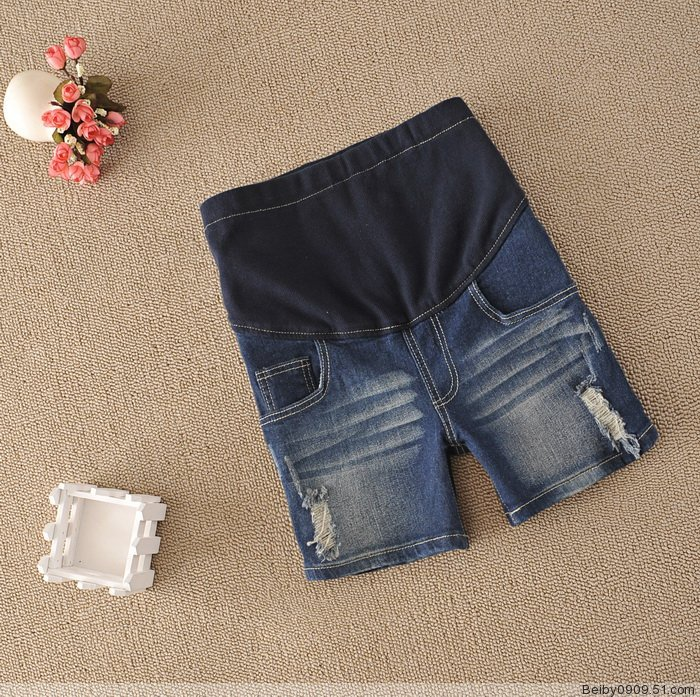 Maternity clothing maternity belly pants hole denim maternity knee-length pants capris maternity shorts summer