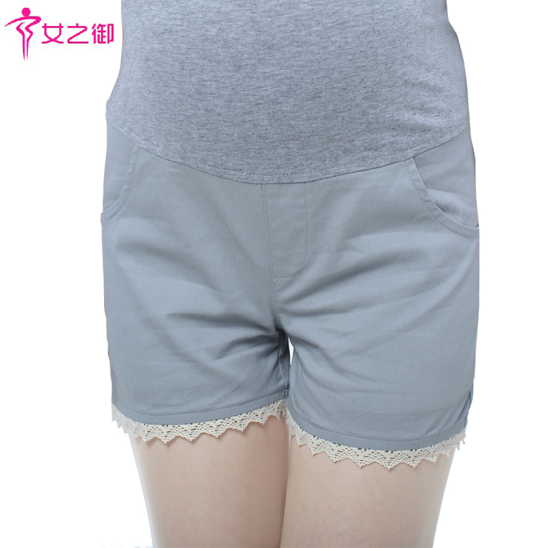Maternity clothing maternity pants summer maternity shorts fashion lace belly pants
