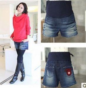 Maternity clothing spring plus size maternity denim shorts summer maternity pants shorts 021 alibaba express